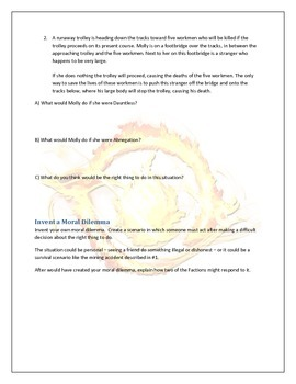 Divergent Faction Morality Activity and Worksheet
