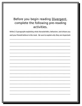 Divergent Literature Guide Part 1