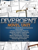 Divergent Novel Unit Bundle Common Core Aligned {Editable}