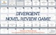 Divergent Novel Final Review Game PowerPoint