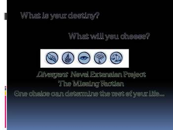 Divergent (Novel by Veronica Roth)- Creating a New Faction