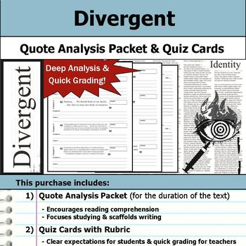 Divergent - Quote Analysis & Reading Quizzes