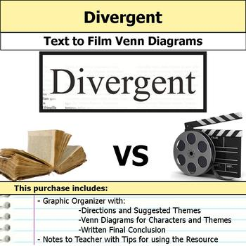 Divergent - Text to Film Venn Diagram and Written Conclusion