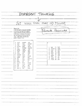 Divergent Thinking Activity - for Middle and High School Students