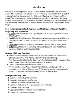 """Divergent Thinking Questions: """"What If"""" Questions For All Subject Areas"""