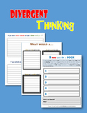Divergent Thinking Writing Prompts:  Dialogue and Hypothetical Situations