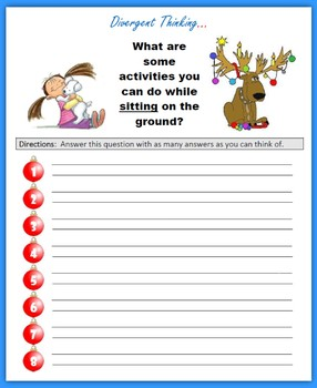 Divergent Thinking at Christmas (3rd Grade)