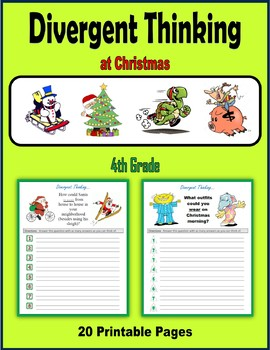 Divergent Thinking at Christmas (4th Grade)