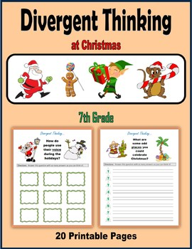 Divergent Thinking at Christmas (7th Grade)