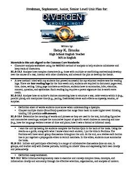 Divergent Unit Plan