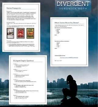 Divergent Lesson Plans - Unit Plan for Teaching Divergent by Veronica Roth