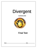 Divergent by Veronica Roth Final Test Novel Assessment