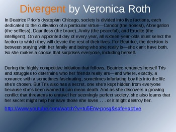Divergent by Veronica Roth Reading and Discussion Guide