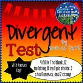 Divergent by Veronica Roth Test WITH KEY