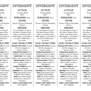 Divergent edition of Bookmarks Plus—Fun Freebie & A Handy Little Reading Aid!