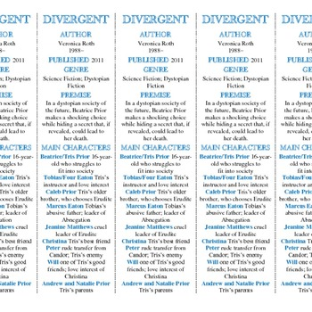 Divergent edition of Bookmarks Plus—Great Gift/Handy Reading Aid!