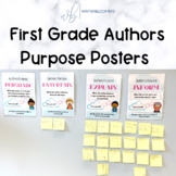 Diverse Authors Purpose Posters + Prep Free Class Activity