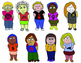 Diverse ClipArt of Revolutionary Children