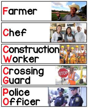 Diverse Community Worker & Vehicle Vocab Cards