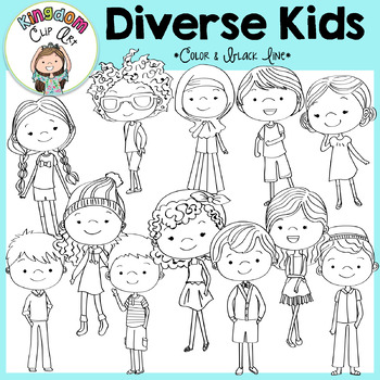 Diverse Kids Clip Art