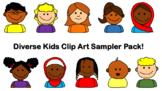 Diverse Kids Clip Art Sampler Pack