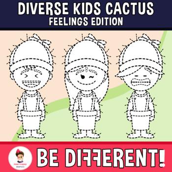 Diverse Kids Clipart Feelings Cactus Edition (PartyHead Kiddos)