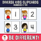 Diverse Kids Clipcards Numbers (0 - 100)