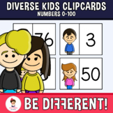 Diverse Kids Clipcards Numbers 0 - 100 (PartyHead Kiddos)