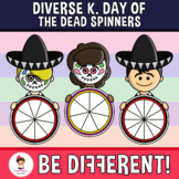 Diverse Kids Day Of The Dead Spinners Clipart (PartyHead Kiddos)