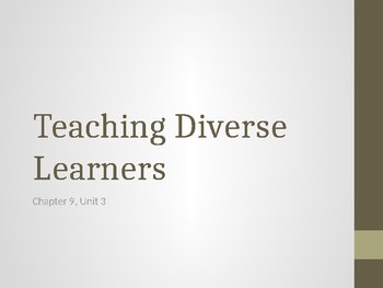 Diverse Learners Powerpoint
