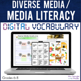 Media Literacy Diverse Media DIGITAL Vocabulary | Distance