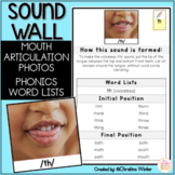 Sound Wall Mouth Pictures and Word Lists ONLY