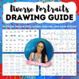 Diverse Portraits Drawing Guide: 200+ Unique Facial Featur