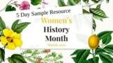 Diverse Women's History Month SAMPLE WEEK Biographies - BLM, LGBTQ+