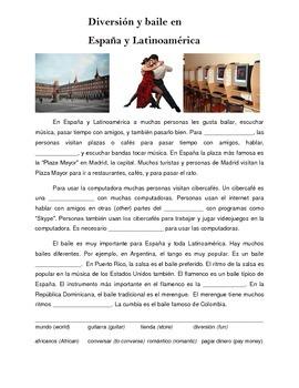 Cultural Reading: Diversión y Baile en España y Latinoamérica