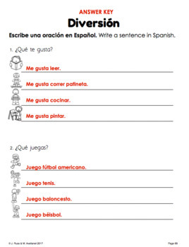 Diversión Fun Deportes Sports Beginning Spanish Lessons for Elementary