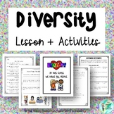 Diversity Lesson + Activity: Human Bingo, Take a Side, + Writing Prompt