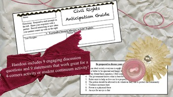 Civil Rights Anticipation Guide