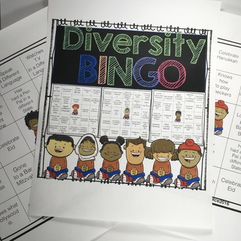 Diversity Bingo: Promote Culture and Diversity in your Classroom!