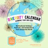 2019-20 Diversity Calendar - Multicultural Calendar with Multicultural Holidays