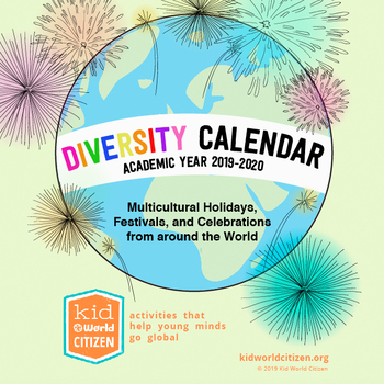 2019-20 Diversity Calendar - Multicultural Calendar with Multicultural Holidays