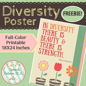 Diversity Classroom Poster- FREE Download!