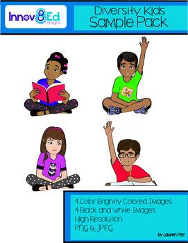 Diversity Kids Clipart Sample Pack {Innov8Ed designs}