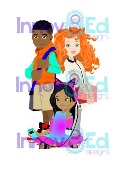Diversity Kids Clipart Set {Innov8Ed designs}