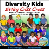 Diversity Pack - Criss Cross Kids Clip Art for Personal an