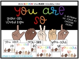 Diversity / LGBTQ+/ ASL You are So Loved Posters and Bulletin Board Set