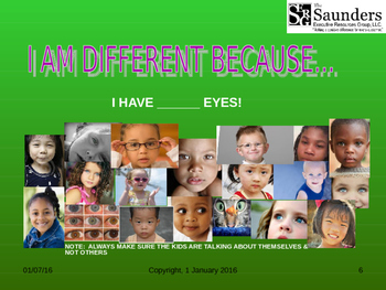 Diversity Made Easy:  I am different because...?