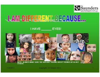 """Diversity Made Easy:  I am different because...?"" SAMPLE"