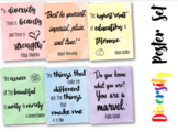 Diversity Poster Set: Rainbow motivational posters- printable
