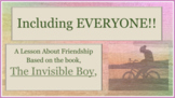 """""""Invisible Boy""""Diversity Tolerance Inclusion Exclusion MLK PBIS w 11 video links"""